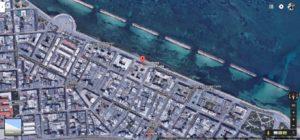 La presidenza della Regione Puglia sul lungomare Nazario Sauro, a Bari, immortalata su Google Maps.